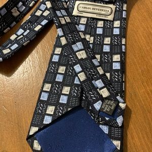 Men's Navy multi-color silk tie